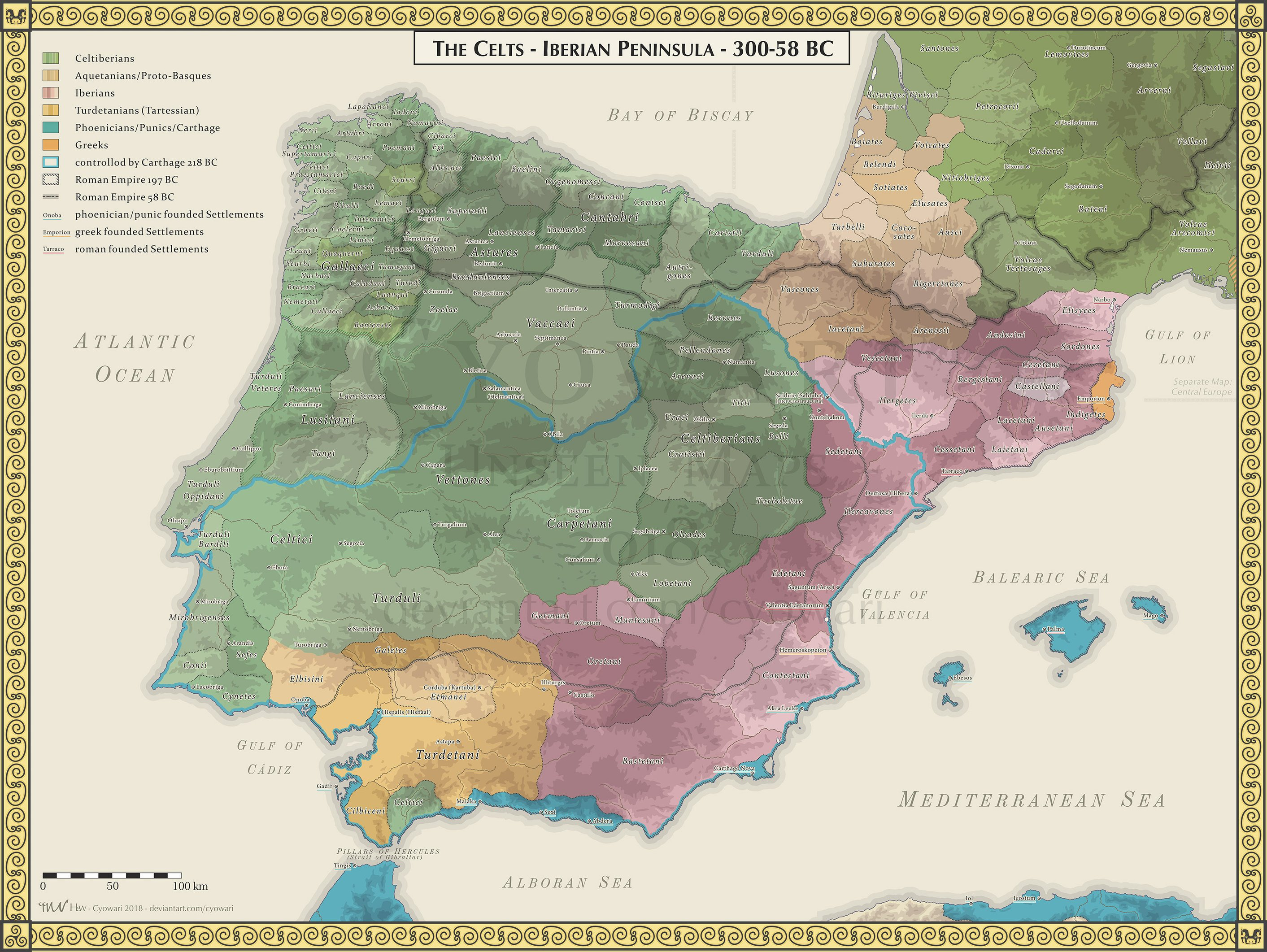 Image of: Map The Celts Iberian Peninsula 300 58bc Infographic Tv Number One Infographics Data Data Visualization Source