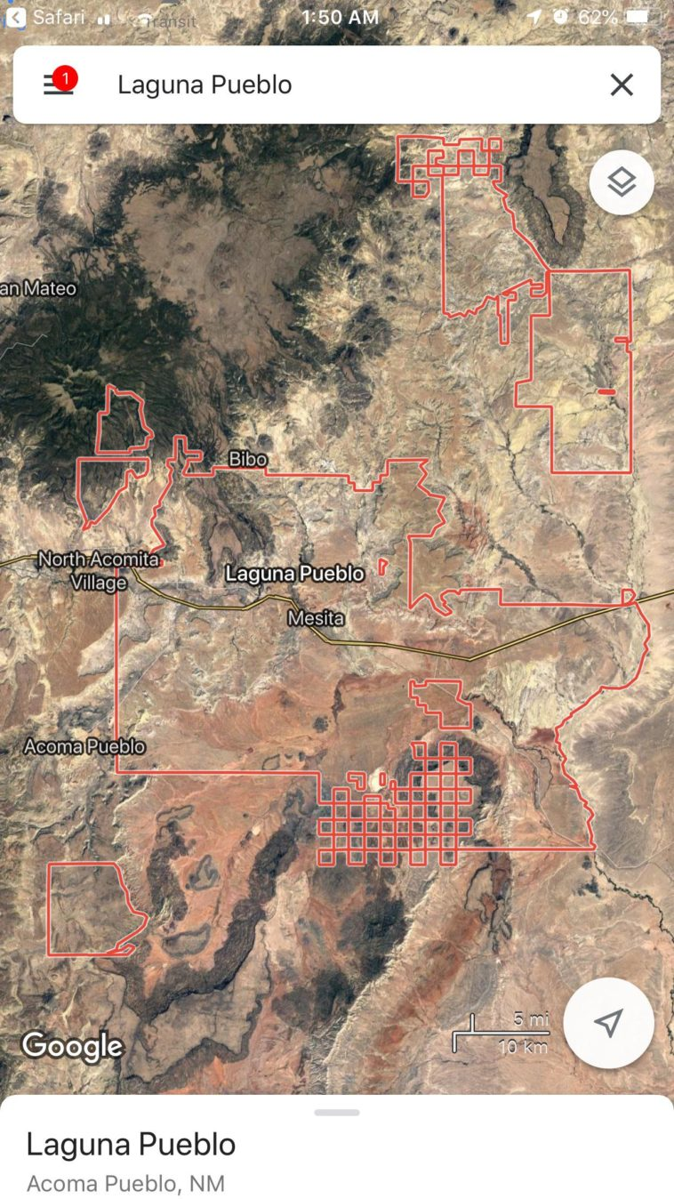 Map What Is Going On With Borders Of The Laguna Pueblo